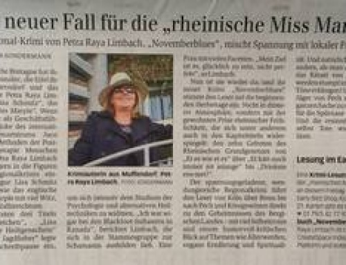 Presse: Krimi-Lesung Novemberblues im Early Bird Shop Bonn